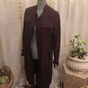 Silk Authentic Burberry Trench Coat Size 6